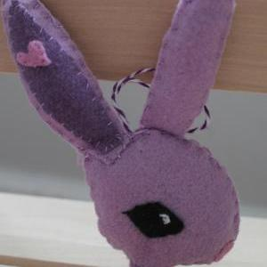 Vintage Inspired Easter Bunny Ornam..